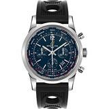 Breitling Transocean Unitime Pilot 46mm Blue Dial Men's Watch AB0510U9/C879-201S