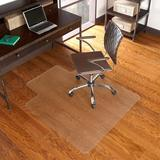 "Delacora FF-MAT-131858 36"" X 48"" Office / Desk Chair Mat for Wood Floors with Under Desk Extension"