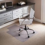 """Delacora FF-MAT-CM11113FD 36"""" X 48"""" Vinyl Office Chair Mat for Carpet with Under Desk Extension Lip"""