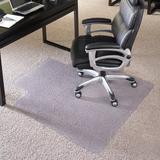 "Delacora FF-MAT-124086 36"" X 48"" Vinyl Commercial Grade Office Chair Mat for Carpet with Under Desk"