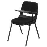 Delacora FF-RUT-EO1-01-PAD-LTAB-GG 23 Inch Wide Metal Framed Plastic Top Stackable Classroom Desk