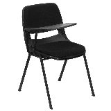 Delacora FF-RUT-EO1-01-PAD-RTAB-GG 23 Inch Wide Metal Framed Plastic Top Stackable Classroom Desk
