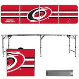 Carolina Hurricanes Striped Design 8' Portable Folding Tailgate Table