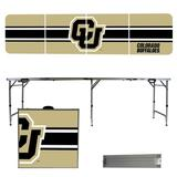 Colorado Buffaloes Striped Design 8' Portable Folding Tailgate Table