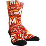 Maryland Terrapins Rock Em Socks Logo Sketch Crew
