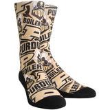 Men's Rock Em Socks Purdue Boilermakers Logo Sketch Crew