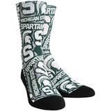 Men's Rock Em Socks Michigan State Spartans Logo Sketch Crew