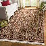 Safavieh Royal Kerman Floral Hand-Knotted Wool Deep Red Area Rug Wool in Brown/Red, Size 108.0 H x 72.0 W in | Wayfair RK30A-6