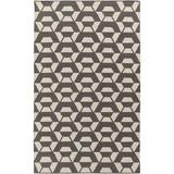 Surya Ink Hand-Tufted Wool/Cotton Light Gray/Ivory Area RugWool in Brown/White, Size 120.0 H x 96.0 W x 0.16 D in   Wayfair RVT5014-810