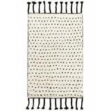 Dash and Albert Rugs Speck Polka Polka Dots Handmade Shag Area Rug Cotton/Wool in White, Size 60.0 H x 36.0 W x 0.5 D in | Wayfair DA944-35