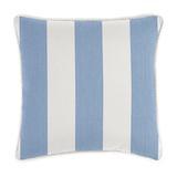 Corded Pillows - 20 inch square Canopy Stripe Black/White Sunbrella - Ballard Designs