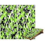 Cornhole Bag Toss Game Board Vinyl Wrap Skin Kit - WraptorCamo Digital Camo Neon Green (fits 24x48 Game Boards - Gameboards NOT Included)
