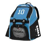 Code Four Athletics Diadora Squadra Soccer Backpack Customized with Number or Initials - Color Columbia Blue
