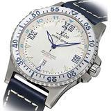 Xezo Men's Air Commando D-45 SSL Japanese-Automatic Dive Luxury Watch (2Nd Time Zone), White (AIR Commando D45-SSL)