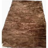 "Moda Furs New Brown 100% Sheared Beaver Fur Blanket Throw Rug Bedspread 90"" X 47"""