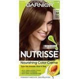 Nutrisse Nourishing Color Creme #50 Medium Natural Brown Garnier Hair Color Unisex 1 Application (Pack of 7)