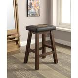 """ECI Furniture Miller High Life 30"""" Bar Stool Wood/Leather/Faux leather in Black/Brown, Size 30.0 H x 20.0 W x 16.0 D in 