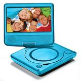 """LEXiBOOK Portable DVD Player for Kids, 7"""" LCD Screen, 2 Built-In Stereo Speakers, USB Port, Built-In Rechargeable Battery, Blue, DVDP1"""