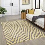 """Momeni Rugs Caravan Collection, 100% Wool Hand Woven Transitional Area Rug, 2'3"""" x 8' Runner, Yellow"""