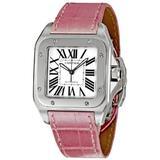 Cartier Men's W20126X8 Santos 100 Silver Dial Watch