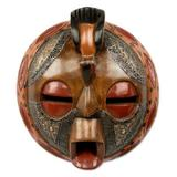 African wood mask, 'Bird of Happiness'