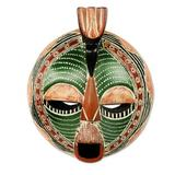 African wood mask, 'Song of Love and Peace'