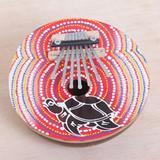 Coconut shell thumb piano, 'Joyous Turtle'