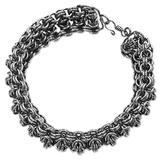Stainless steel chain bracelet, 'Steel Rings'