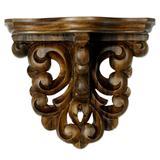 Parota wood wall shelf, 'Colonial Grace' (medium)