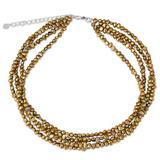 Cultured freshwater pearl strand necklace, 'Golden Brown Nuggets'
