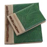 Natural fiber notebooks, 'Autumn Spirit in Green' (pair)