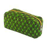 Cotton cosmetic bag, 'Vibrant Kiwi'