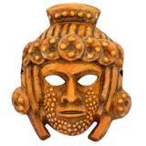 Papier mache mask, 'Maya Stone Princess'