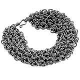 Stainless steel link bracelet, 'Fantasy Bracelet'