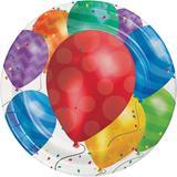 Creative Converting Balloon Blast Paper Plates Paper in Blue/Red | Wayfair DTC427800DPLT
