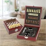 Winston Porter Weddington Wine Bar Tool Set w/ Chess Wood in Brown, Size 1.8 H x 5.8 W x 6.6 D in   Wayfair 4B04E25C238A4408B061912E5DE7358C