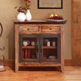 Millwood Pines Stoller 2 Accent Cabinet Wood in Brown/Green, Size 36.0 H x 36.0 W x 16.0 D in   Wayfair 31E1912688204ADBB05953D6A8ECDEE5