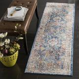 World Menagerie Amiens Camouflage Blue Area Rug Polyester in Blue/Brown, Size 144.0 H x 27.0 W x 0.32 D in | Wayfair