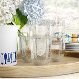 Highland Dunes Fontaine 6 Piece 16 oz.Plastic Drinking Glass Set Plastic, Size 4.3 H x 3.3 W in | Wayfair AF8E256006B74D5E9DE7A0C1288AE594