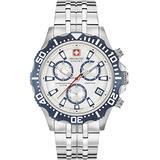 SWISS MILITARY-HANOWA Men's Analogue Quartz Watch with Stainless Steel Bracelet 06-5305.04.001.03