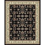 Large Rugs for Living Room 8x10 Black Clearance Area Rugs 8x11 Under 100 Prime Rugs