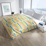 George Oliver Costales Single Duvet Cover Microfiber in Blue/Pink/Yellow, Size King Duvet Cover + 2 Pillow Cases   Wayfair