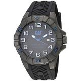 CATSpecial OPS 1 Black/Blue Men Watch, 45.5 mm case, Black face, Date Display, Carbon Fiber case, Black Silicone Strap, Black/Blue dial (K2.121.21.116) (Black/Blue)
