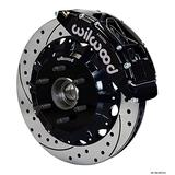 """NEW WILWOOD FRONT DISC BRAKE KIT, 16"""" DRILLED ROTORS, BLACK CALIPERS,PADS,HATS,HUBS,BRACKETS,COMPATIBLE WITH 2004-2008 FORD F-150 2WD 6-LUG 2005-2007 F150 4X2, 2006-2008 LINCOLN MARK LT"""