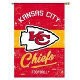 "Kansas City Chiefs 28"" x 44"" Double-Sided Vintage Vertical House Flag"