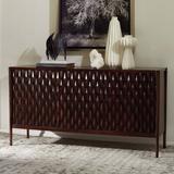"Studio A Home Kerf 61"" Wide Mango Wood Buffet Table Wood in Brown, Size 32.0 H x 61.0 W x 16.5 D in | Wayfair 7.9071"