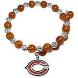NFL Siskiyou Sports Womens Chicago Bears Bead Memory Wire Bracelet One Size Team Color