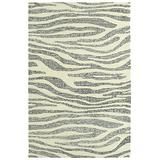 """Kaleen Stesso Collection Hand-Tufted Area Rug, 5' x 7'9"""", Ivory"""