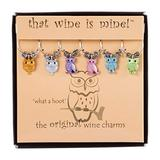 Wine Things What a Hoot, Painted Wine Charms, Fits neatly around stem, Multicolor