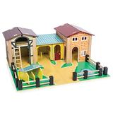 Le Toy Van - Educational Wooden Toy Colourful Wooden Farm Playset   Great Interactive Role Play Gifts for A Boy Or Girl - 3+ Years (TV410)
